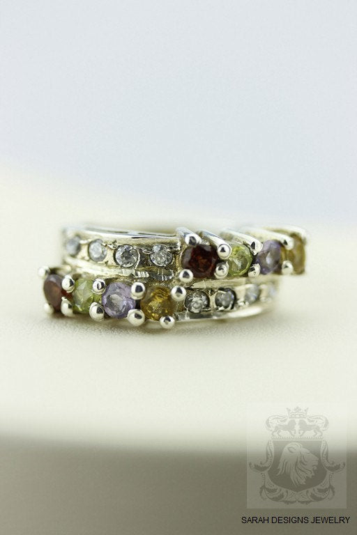 SIZE 5.5 Topaz CITRINE PERIDOT (Nickel Free) 925 Fine Sterling Silver Ring & Worldwide Express Shipping  r51