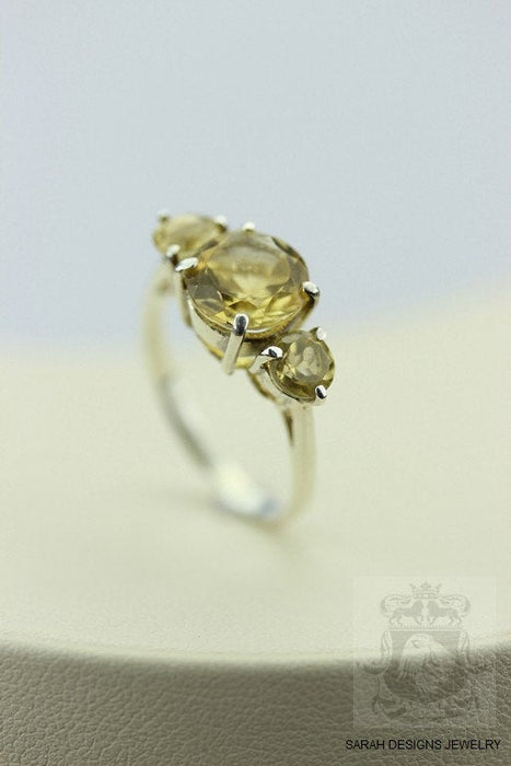 Size 7.5 Citrine Sterling Silver Ring r55