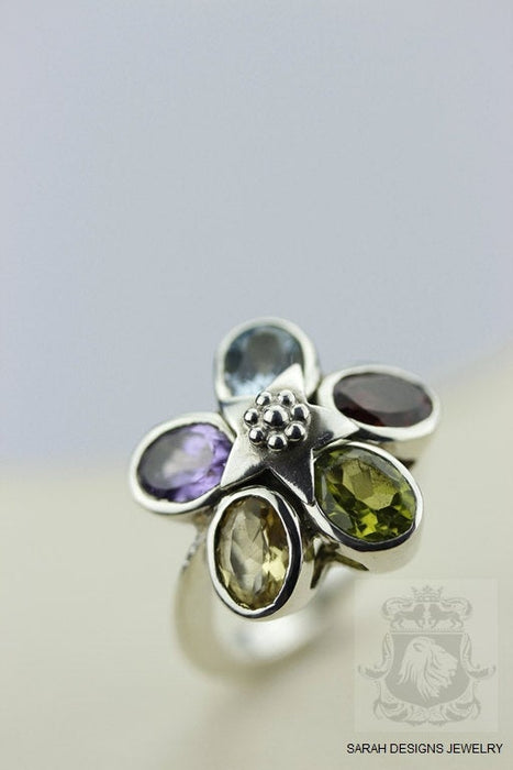 Size 6 Peridot Sterling Silver Ring r81