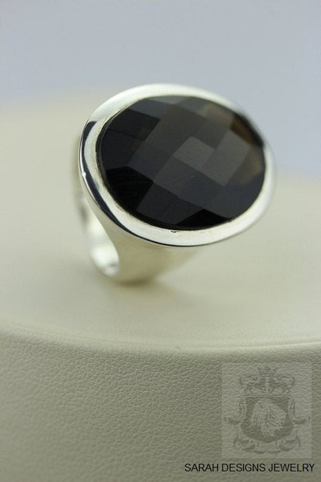 Size 6 Smokey Topaz Sterling Silver Ring R219
