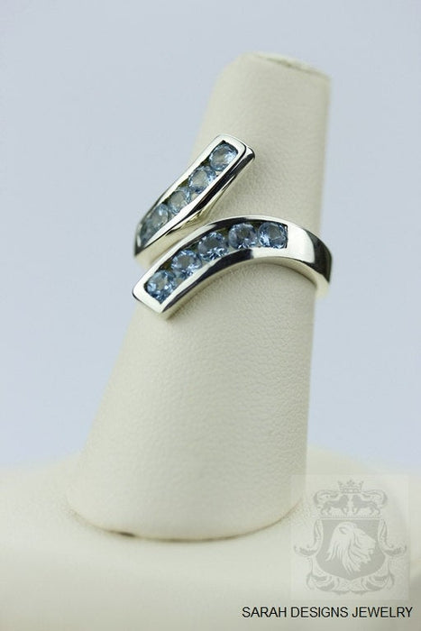 Size 6 Aquamarine Sterling Silver Ring R155