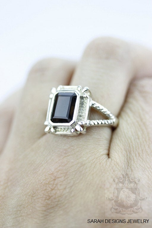 Size 6 Smoky Topaz Sterling Silver Ring r212