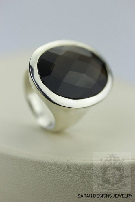 Size 6 Smoky Topaz Sterling Silver Ring r216