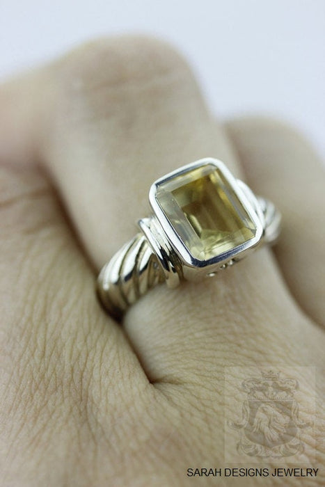 Size 7 Citrine Sterling Silver Ring r294