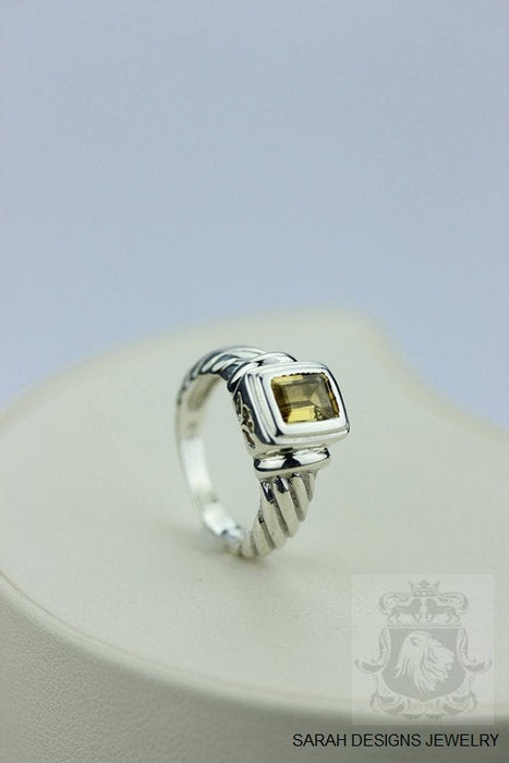Size 5.5 Citrine Sterling Silver Ring r299