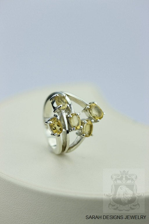 SIZE 6 BRAZILIAN CITRINE (Nickel Free) 925 Sterling Silver Ring & Worldwide Express Shipping r304