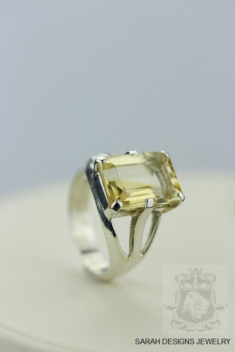 Size 5 Citrine Sterling Silver Ring R325