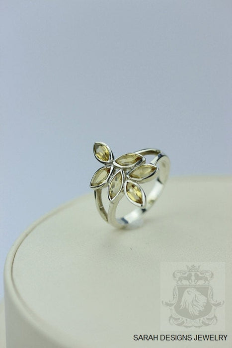 Size 6.5 Citrine Sterling Silver Ring r302