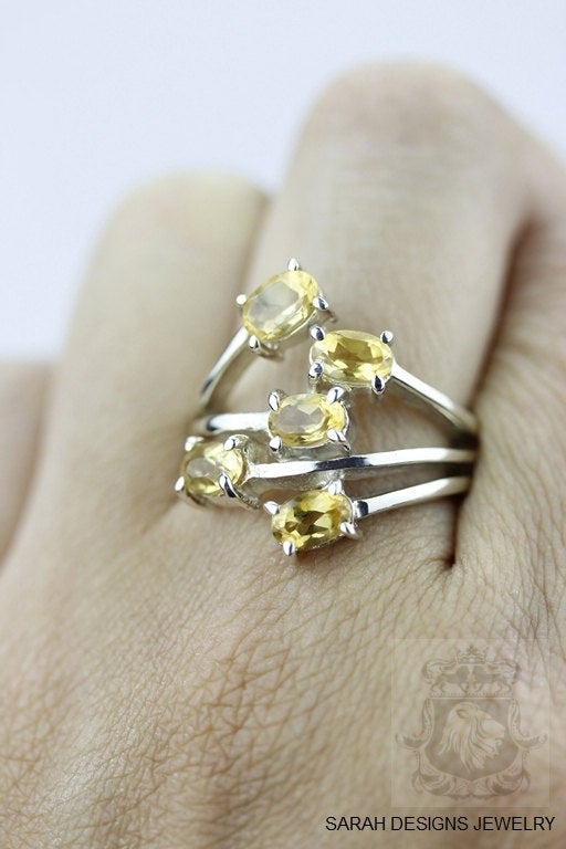 Size 6 Citrine Sterling Silver Ring R304