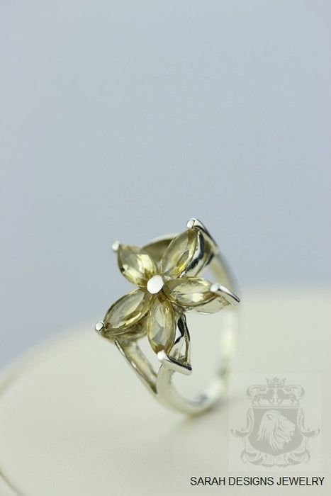 Size 7.5 Citrine Sterling Silver Ring r318