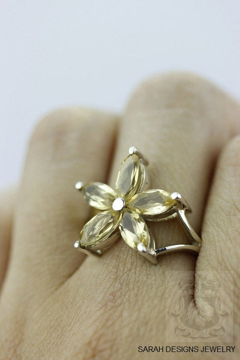 Size 6 Citrine Sterling Silver Ring R329