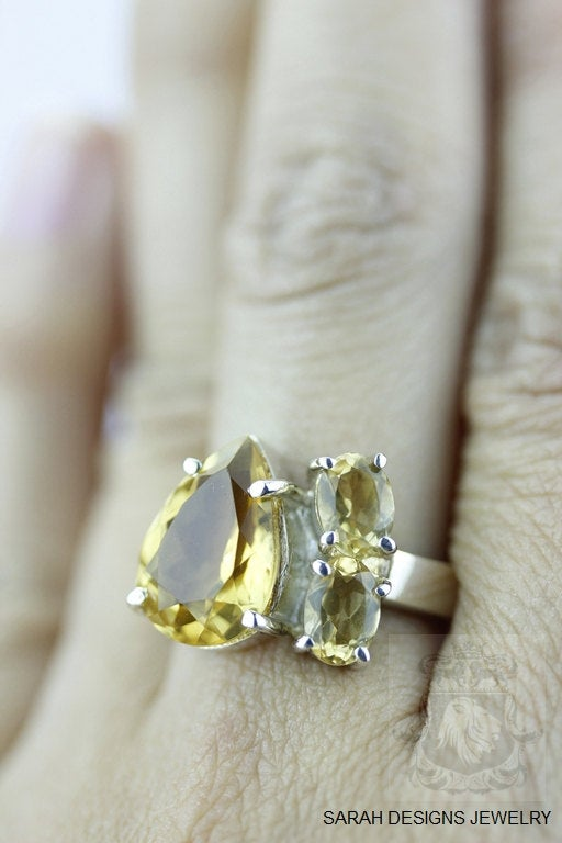Size 6.5 Marquise Citrine Sterling Silver Ring r340