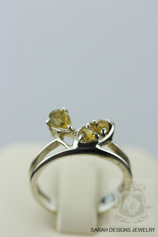 SIZE 6.5 BRAZILIAN CITRINE (Nickel Free) 925 Sterling Silver Ring & Worldwide Express Shipping r346