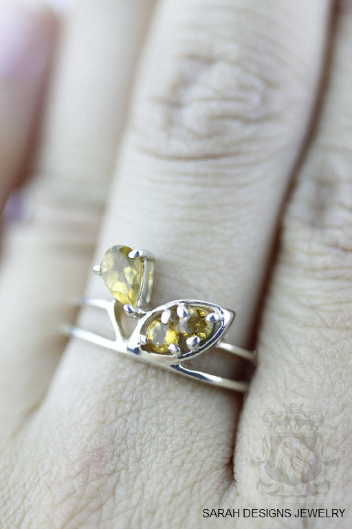 Size 6.5 Citrine Sterling Silver Ring r346