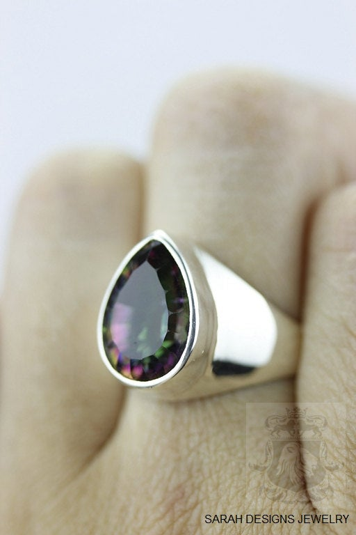 Size 6.5 Mystic Topaz Sterling Silver Ring r354
