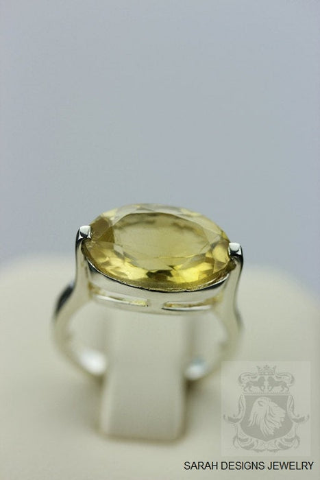 Size 4.5 Citrine Sterling Silver Ring R336