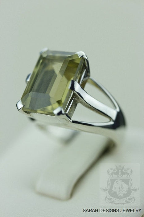 Size 5.5 Lemon Topaz Sterling Silver Ring r450