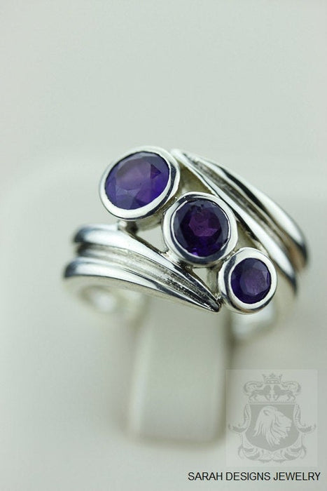 SIZE 6.5 Amethyst Sterling Silver Ring r451