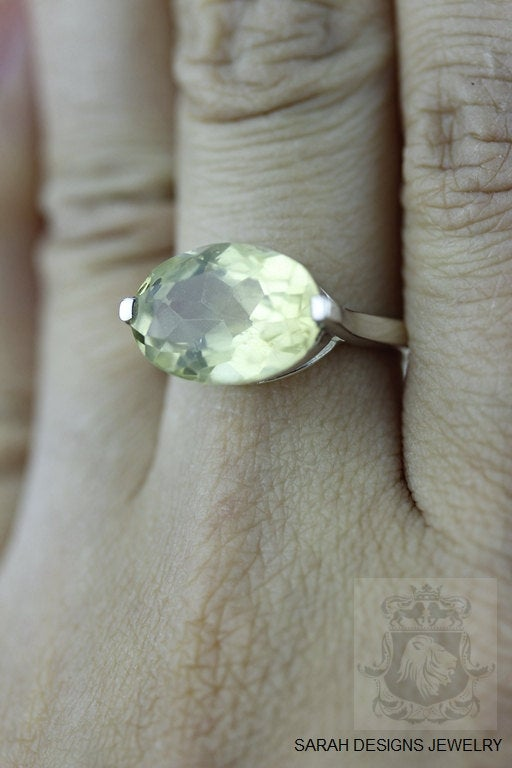 Size 5.5 Lemon Topaz Sterling Silver Ring r430