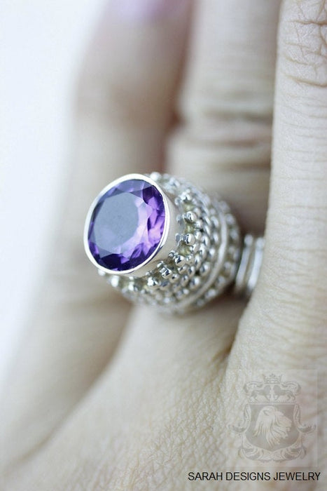 Size 5 Amethyst Sterling Silver Ring R550