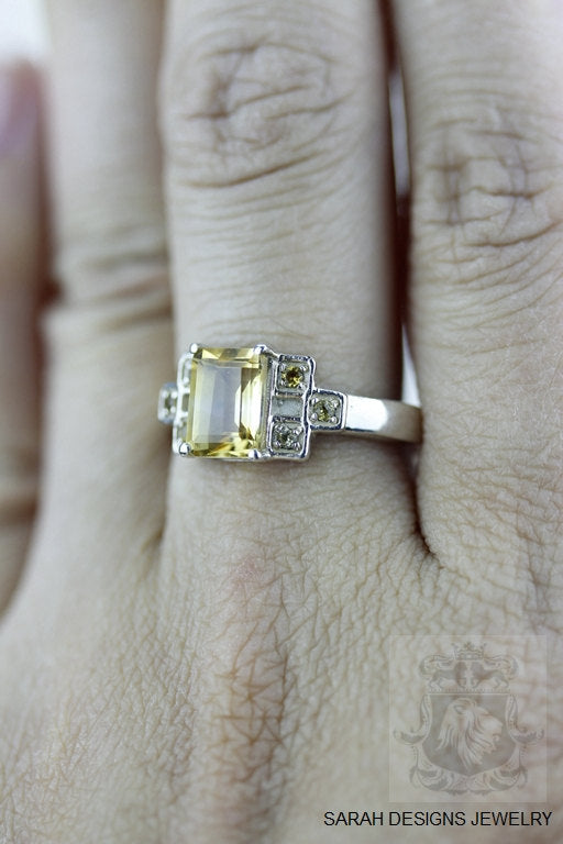 Size 7.5 Citrine Sterling Silver Ring r551