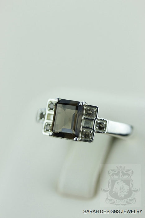 Size 7.6 Smoky Topaz Sterling Silver Ring R559