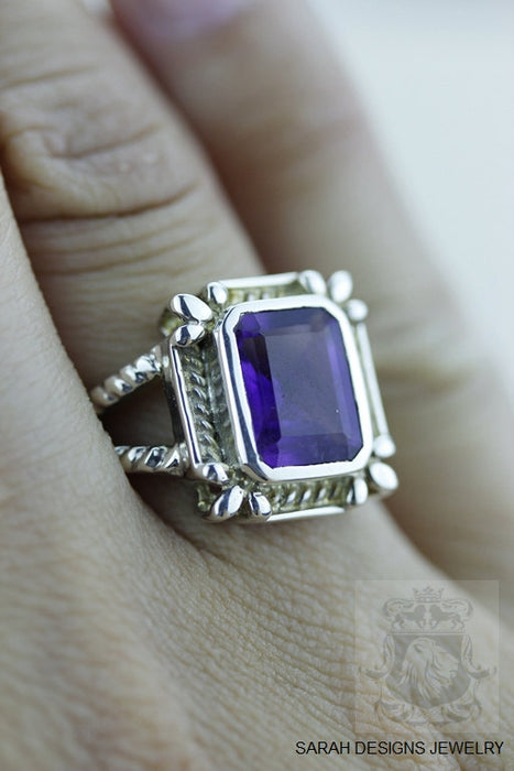 Size 6 Amethyst Sterling Silver Ring r540