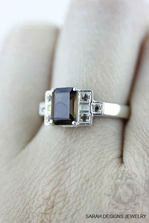 Size 6 Smoky Topaz Sterling Silver Ring r566