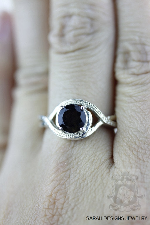 Size 6 Smoky Topaz Sterling Silver Ring r569