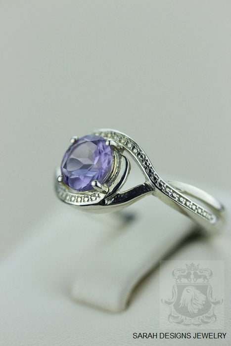 Size 7 Amethyst Sterling Silver Ring r598