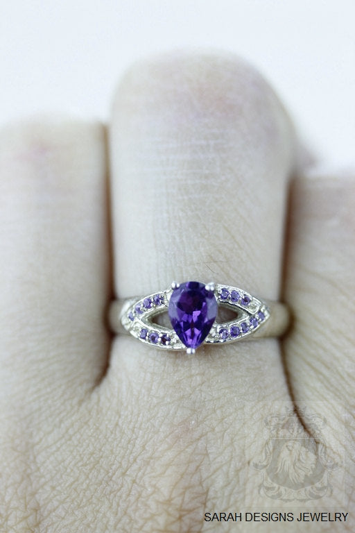 Size 6.5 Amethyst Sterling Silver Ring r631