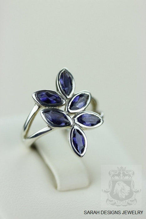 Size 5.5 Iolite Sterling Silver Ring r686