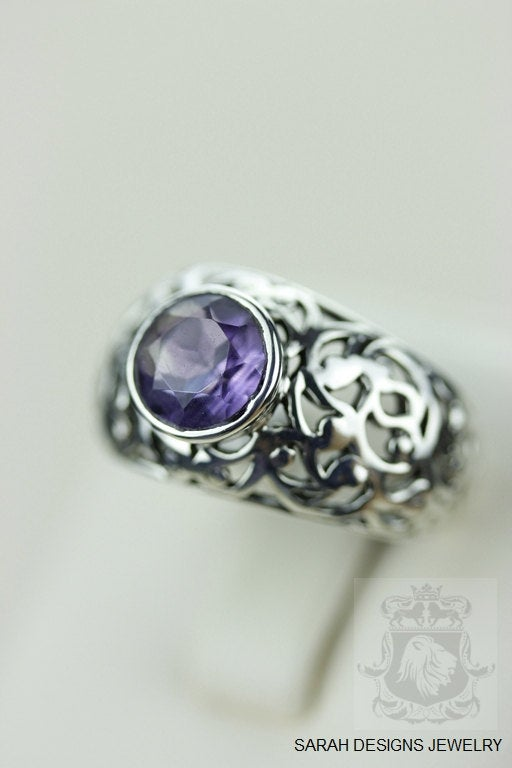 Size 6.5 Amethyst Sterling Silver Ring r716