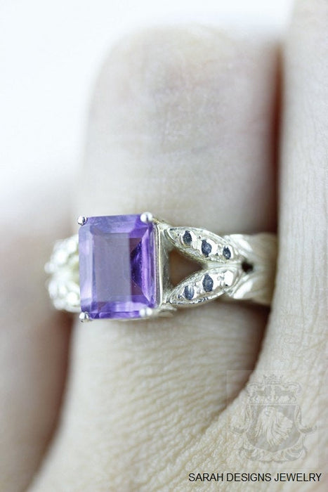 Size 4.5 Amethyst Sterling Silver Ring R585
