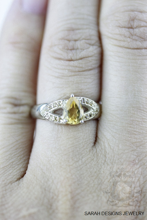 Size 5.5 Citrine Sterling Silver Ring