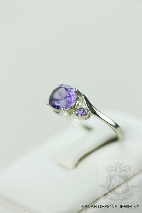 Size 6.5 Amethyst Sterling Silver Ring r648