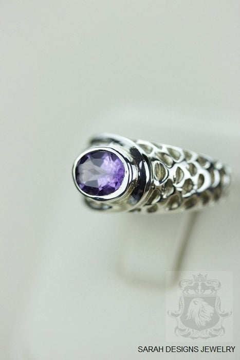 Size 7 Amethyst Sterling Silver Ring r743