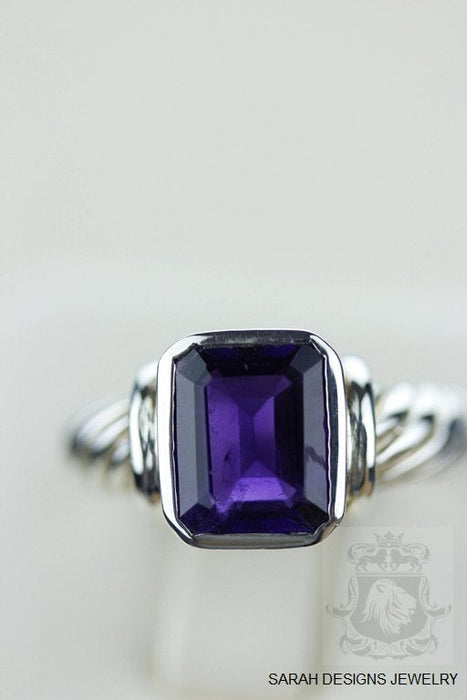Size 7 Amethyst Sterling Silver Ring r757