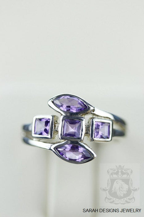 Size 5.5 Amethyst Sterling Silver Ring r759