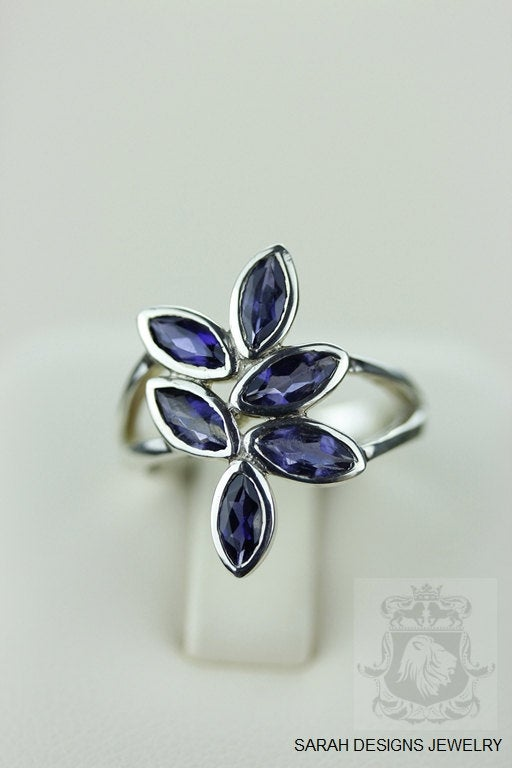 SIZE 5.5 IOLITE (Nickel Free) 925 Fine S0LID Sterling Silver Ring & Worldwide Express  Shipping r686