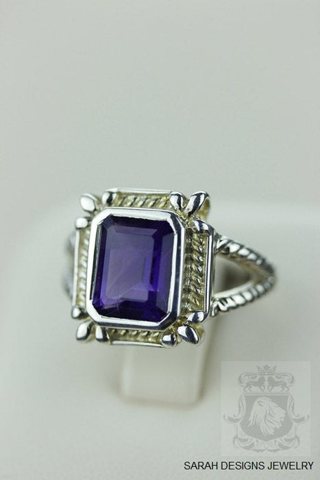 Size 6 Amethyst Sterling Silver Ring r701