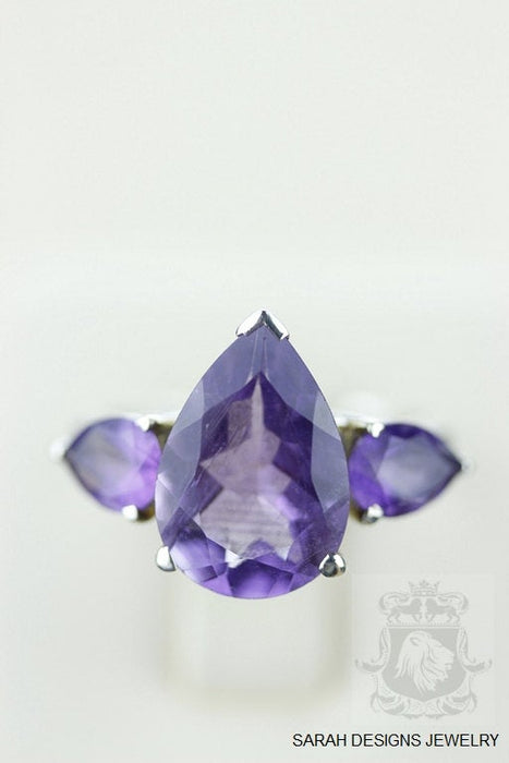 Size 7 Amethyst Sterling Silver Ring r763