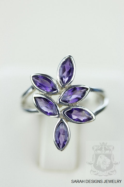 SIZE 5.5 AMETHYST (Nickel Free) 925 Fine S0LID Sterling Silver Ring & Worldwide Express Shipping r766