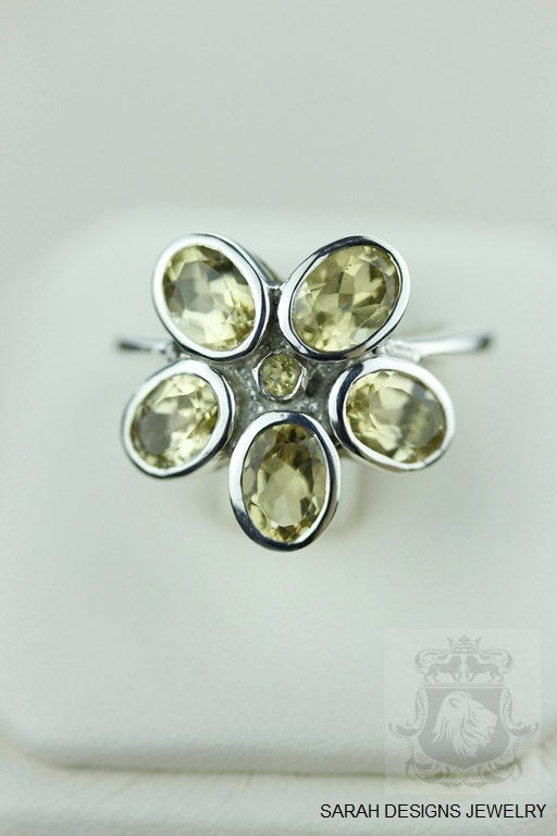 SIZE 7 ROUND Cut CITRINE (Nickel Free) 925 Fine S0LID Sterling Silver Ring & Worldwide Express Shipping r903