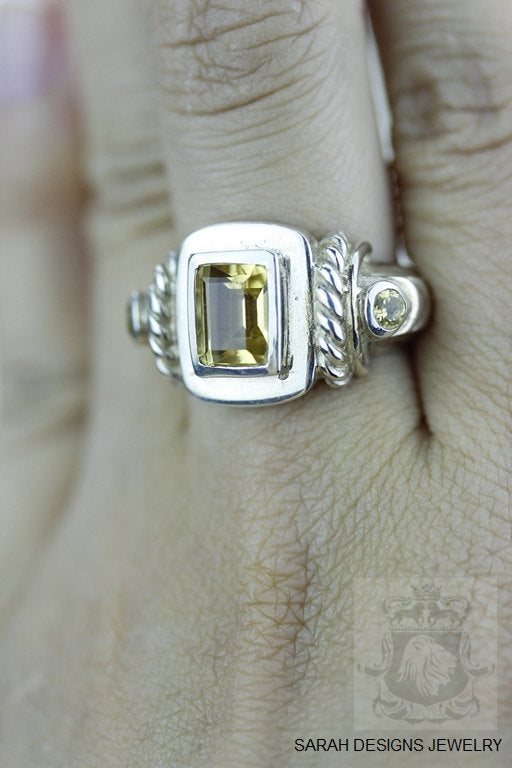 Size 6.5 Citrine Sterling Silver Ring r915