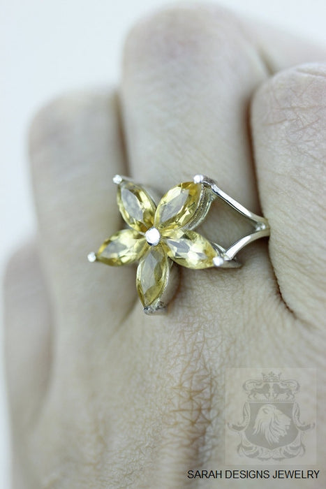 Size 7 Citrine Sterling Silver Ring r925