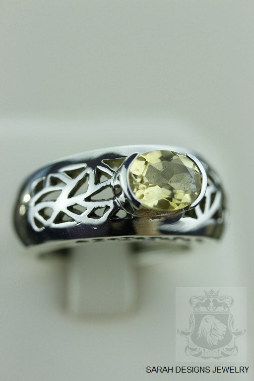 Size 8 Citrine Sterling Silver Ring r928
