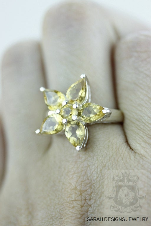 Size 7 Citrine Sterling Silver Ring r947