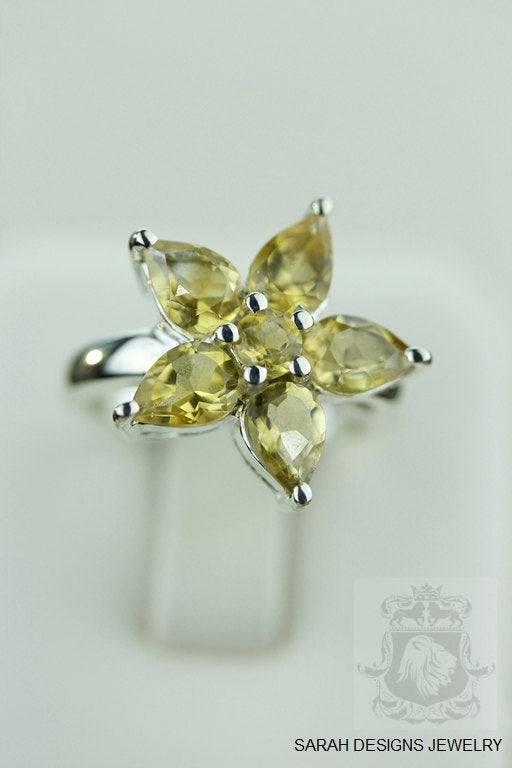 Size 7 STAR SHAPE CITRINE (Nickel Free) 925 Fine S0LID Sterling Silver Ring & Worldwide Express Shipping r947