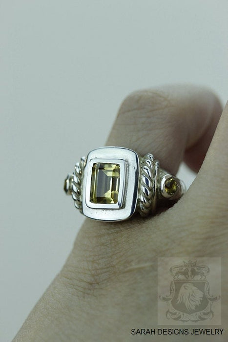 Size 4.5 Citrine Sterling Silver Ring R955